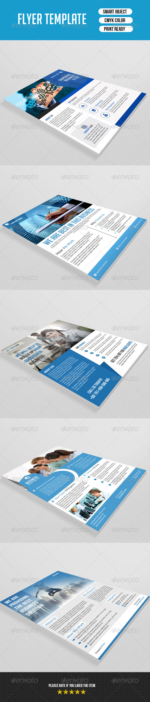 GraphicRiver Clean Corporate Flyer Bundle-V02 8773138