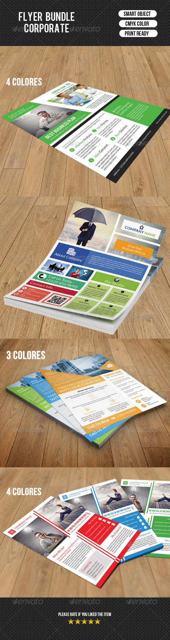GraphicRiver 4 Business Flyer Bundle-V03 8773170