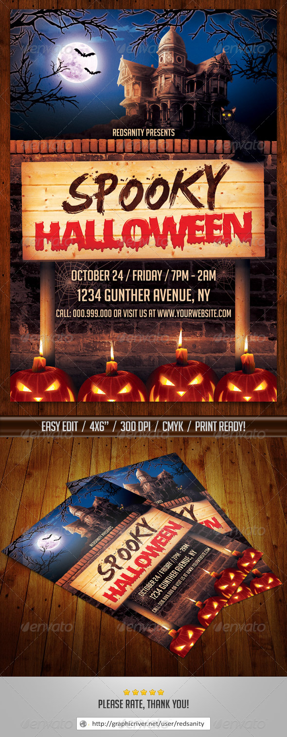GraphicRiver Spooky Halloween Flyer 8773174