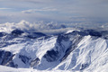 Winter mountains in clouds at windy day - PhotoDune Item for Sale