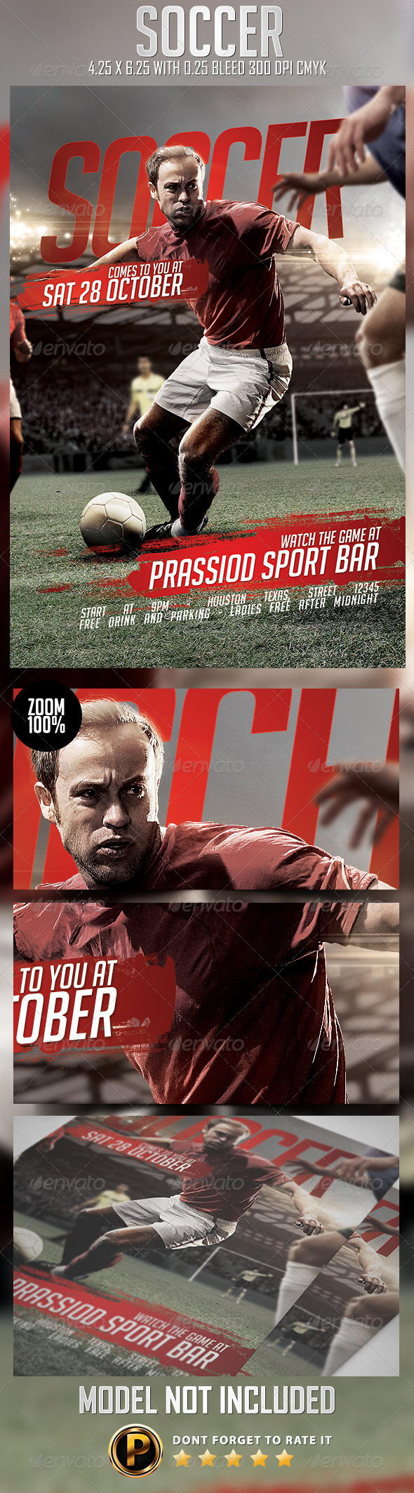 GraphicRiver Soccer Flyer Template 8773445