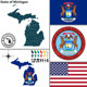 Map of State Michigan, USA - GraphicRiver Item for Sale