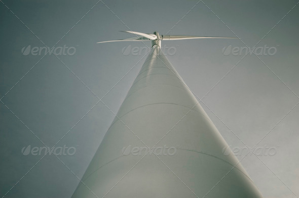 Windmill from below looking up - Stock Photo - Images
