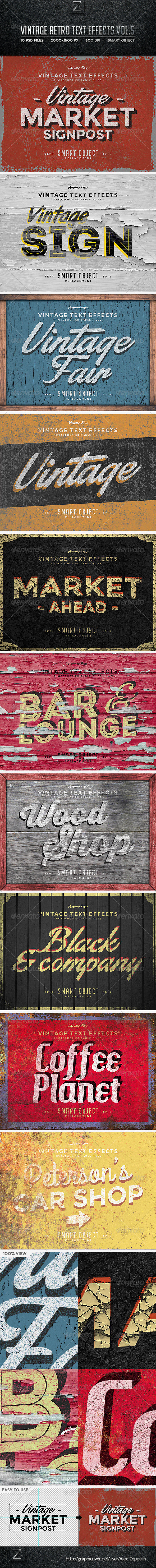 GraphicRiver Vintage Text Effects Vol.5 8774175