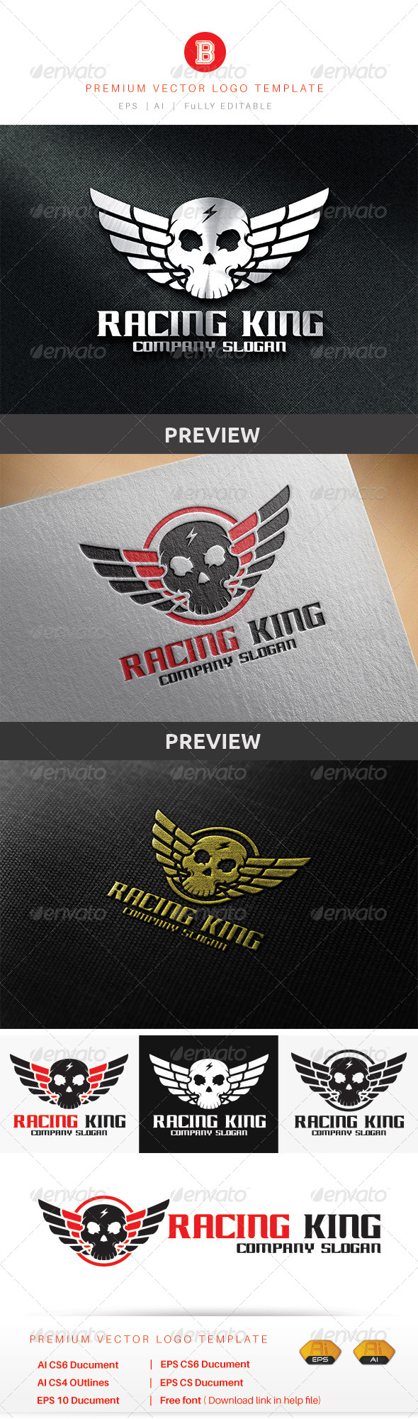 GraphicRiver Racing King 8774178