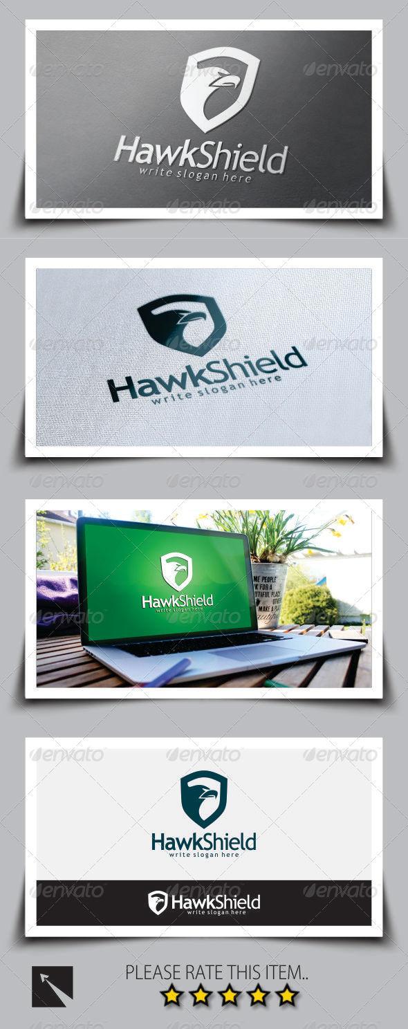 GraphicRiver Hawk Shield Logo Template 8774385
