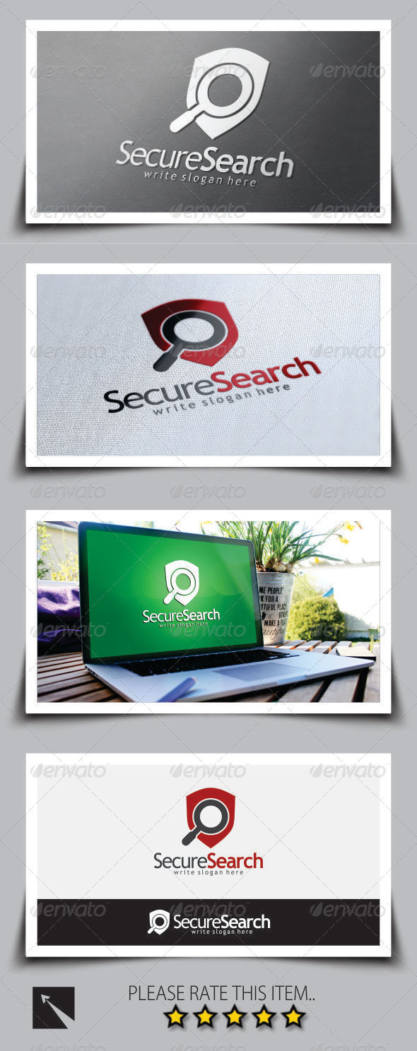 GraphicRiver Secure Search Logo Template 8774491