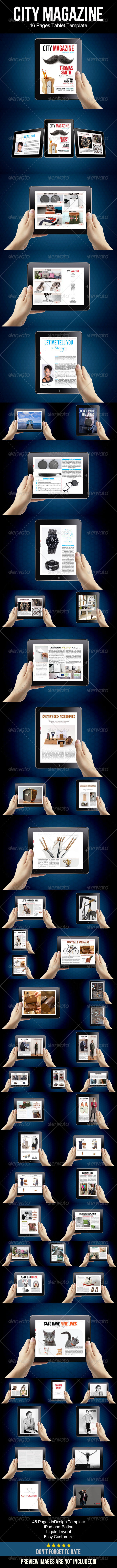 GraphicRiver City Magazine Tablet Template 8774519
