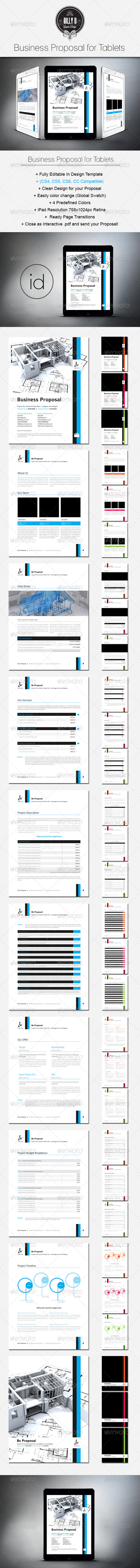 GraphicRiver Business Proposal Template for Tablets 8766530