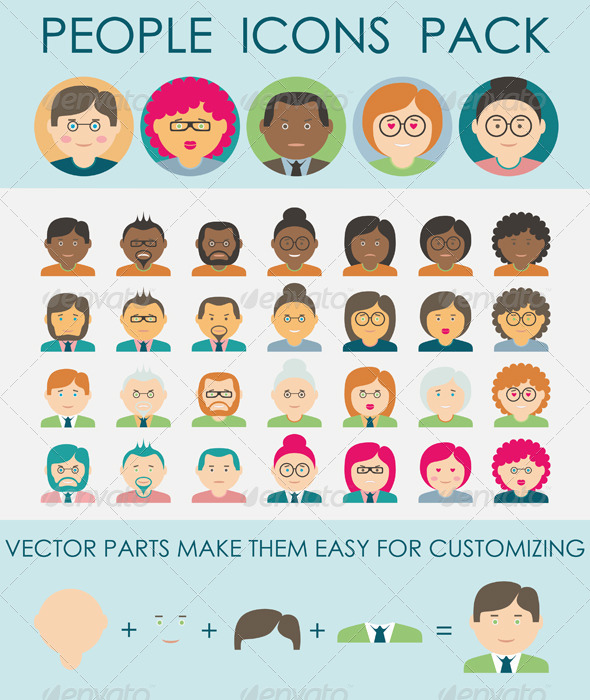 GraphicRiver People Icons Pack 8775739