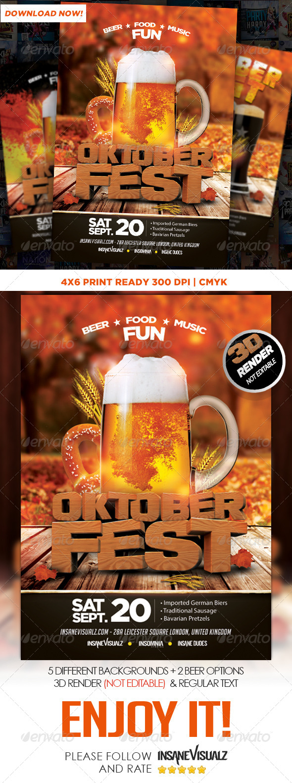 GraphicRiver OktoberFest Flyer Template 8760441