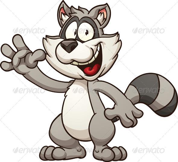 GraphicRiver Cartoon Raccoon 8775821