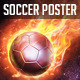 Soccer Poster Flames - GraphicRiver Item for Sale
