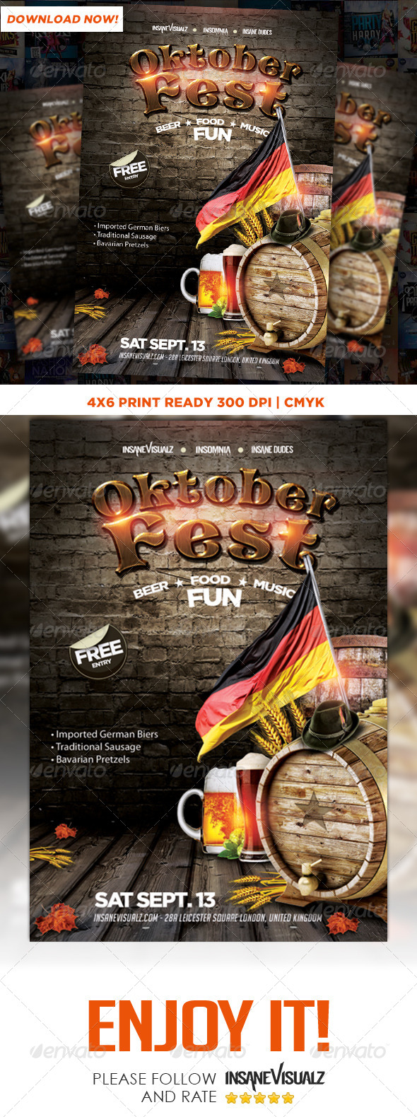 GraphicRiver OktoberFest 2014 Flyer 8760621