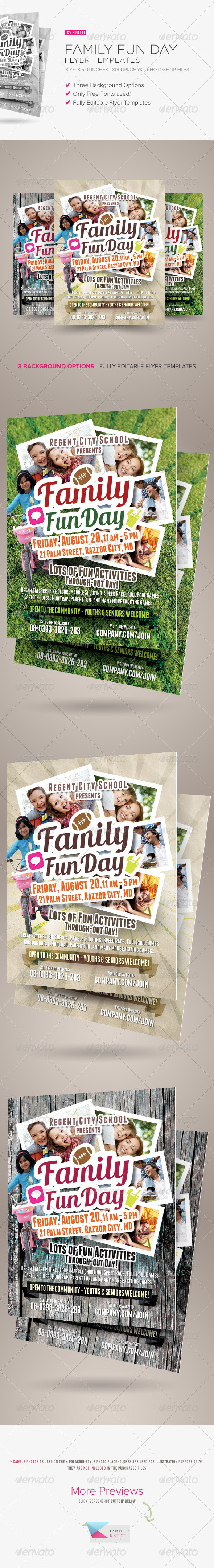 GraphicRiver Family Fun Day Flyers 8775905