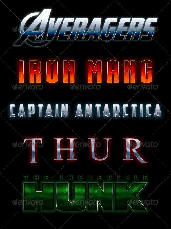 GraphicRiver MARVEL-ous Text Styles 8775946