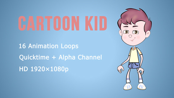 Cartoon Kid Animation Pack
