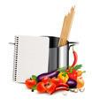 Recipe template. Cookbook, vegetables and casserole - PhotoDune Item for Sale