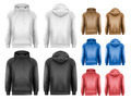 Set of black and white and colorful male hoodies - PhotoDune Item for Sale