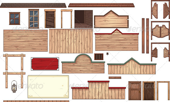 GraphicRiver Old West Town 8776018