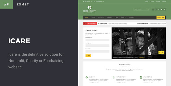 ThemeForest Icare Charity Fundraising Nonprofit Theme 8776117