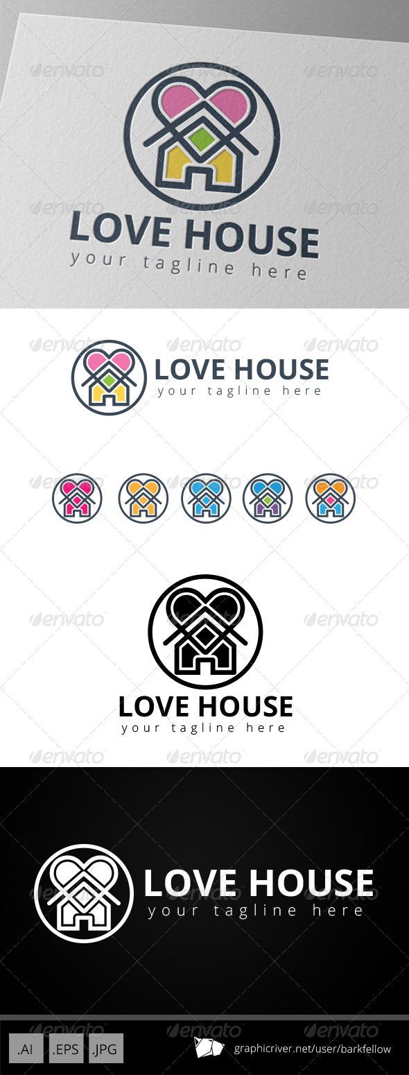GraphicRiver Love House Logo 8776231