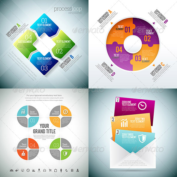 GraphicRiver Infographic 3 Set 8776270