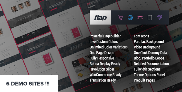 ThemeForest FLAP Business WordPress Theme 8674654