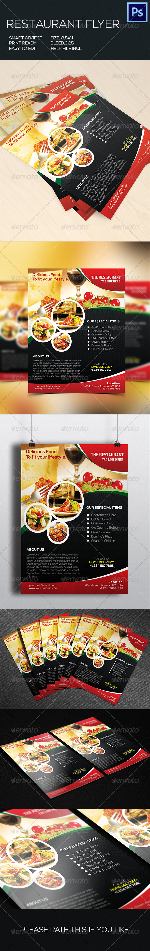 GraphicRiver Retaurant Food Flyer 8776798