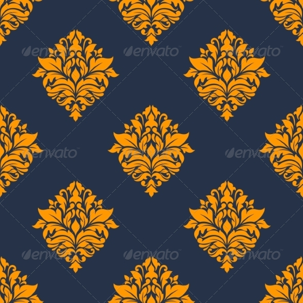 GraphicRiver Retro Orange Seamless Pattern 8776828