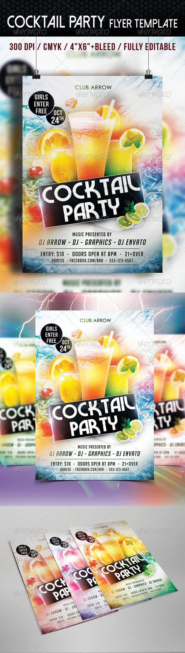 GraphicRiver Cocktail Party Flyer Template 8759089