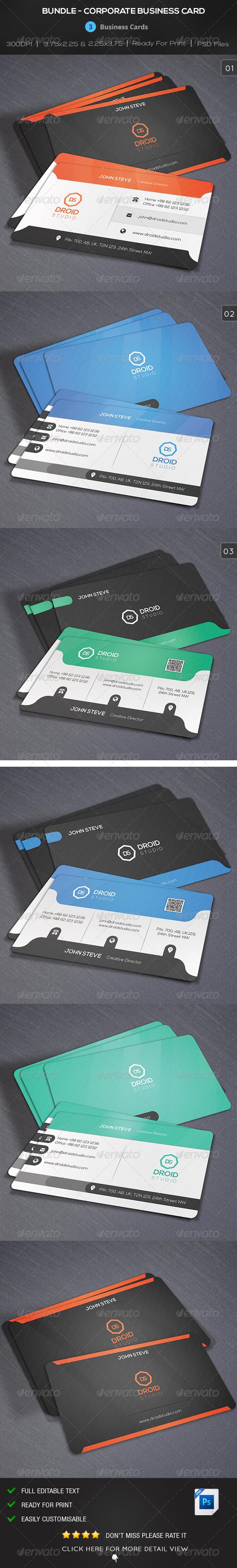 GraphicRiver Bundle Corporate Creative Business Card 8776967