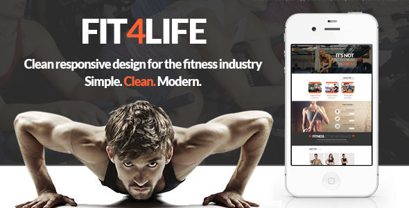 ThemeForest Fit4Life Gym & Fitness PSD Template 8762744