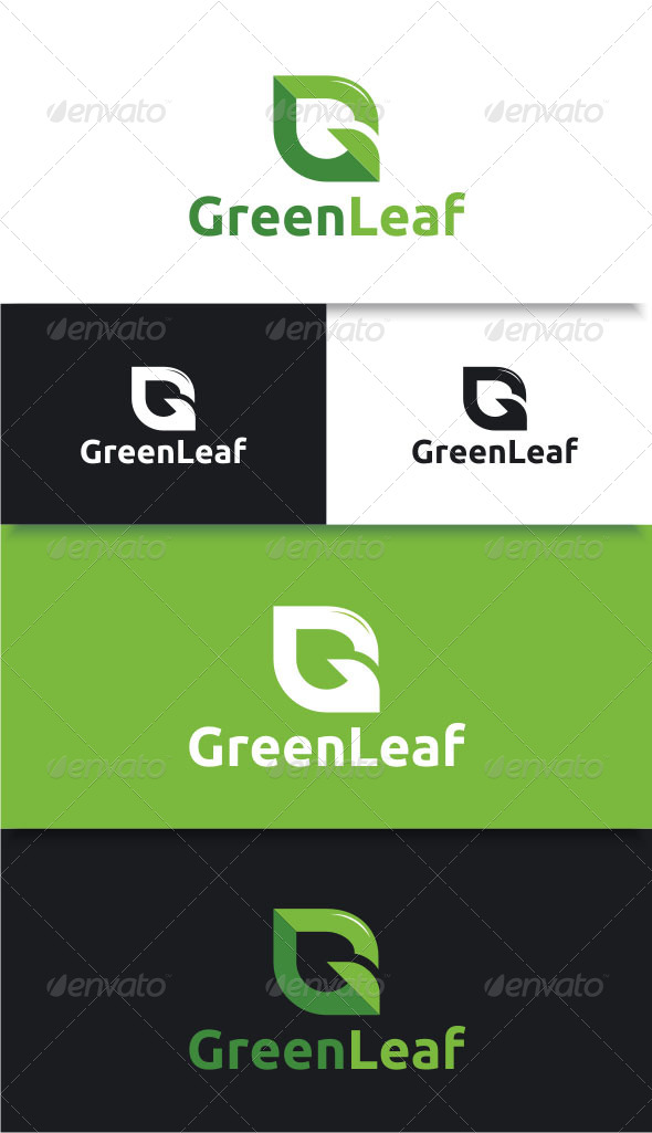 GraphicRiver Green Leaf Letter G Logo 8776987
