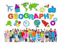 Group of Children and Geography Concept