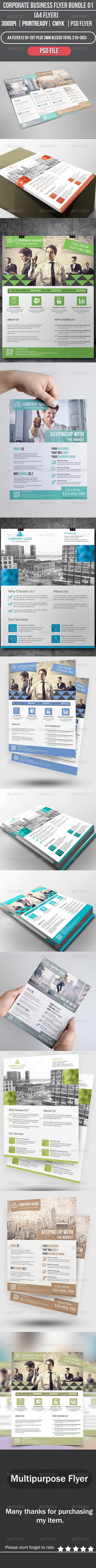 GraphicRiver Corporate Business Flyer Bundle 01 8776995
