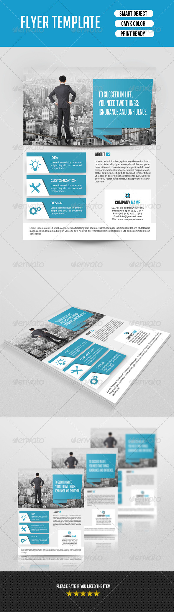 GraphicRiver Corporate Flyer Template-V123 8777125
