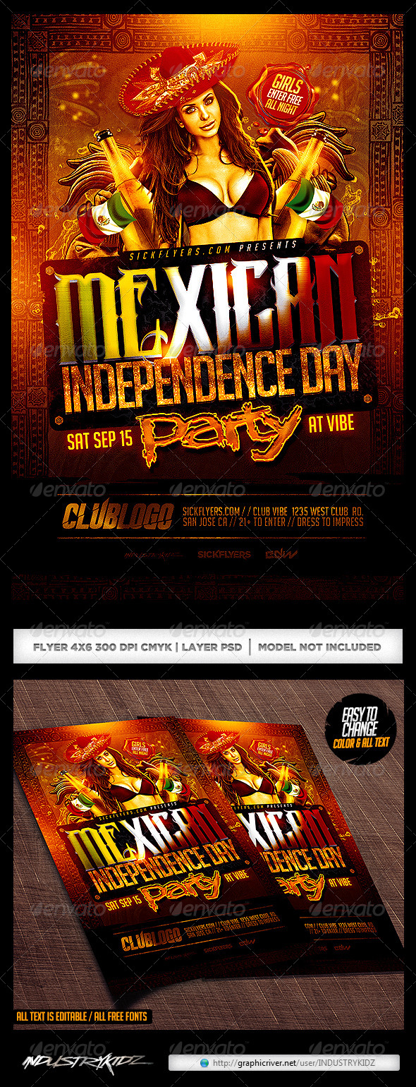 GraphicRiver Mexican Independence Day Flyer 8777321