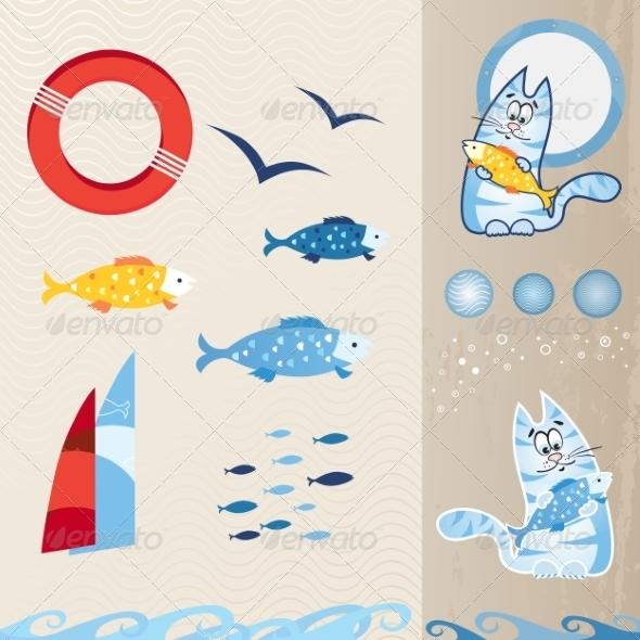 GraphicRiver Nautical Icon Set 8777484
