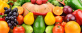 Background of set fruits and vegetables - PhotoDune Item for Sale