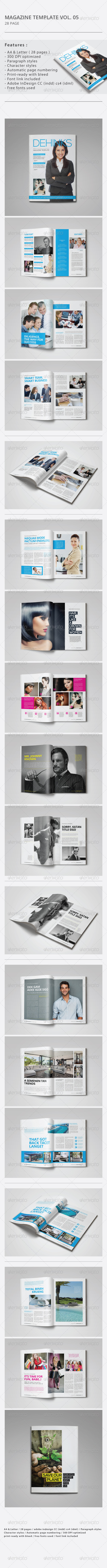 GraphicRiver Indesign Magazine Template Vol.05 8777614
