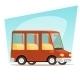 Retro Cartoon Car Family Travel - GraphicRiver Item for Sale