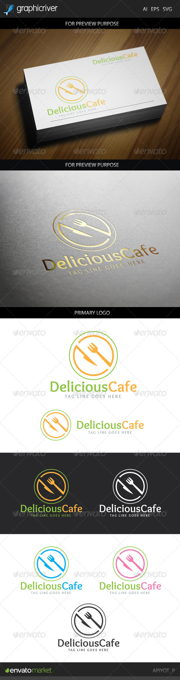 GraphicRiver Delicious Cafe Logo 8777710