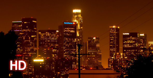 Downtown Los Angeles at Night