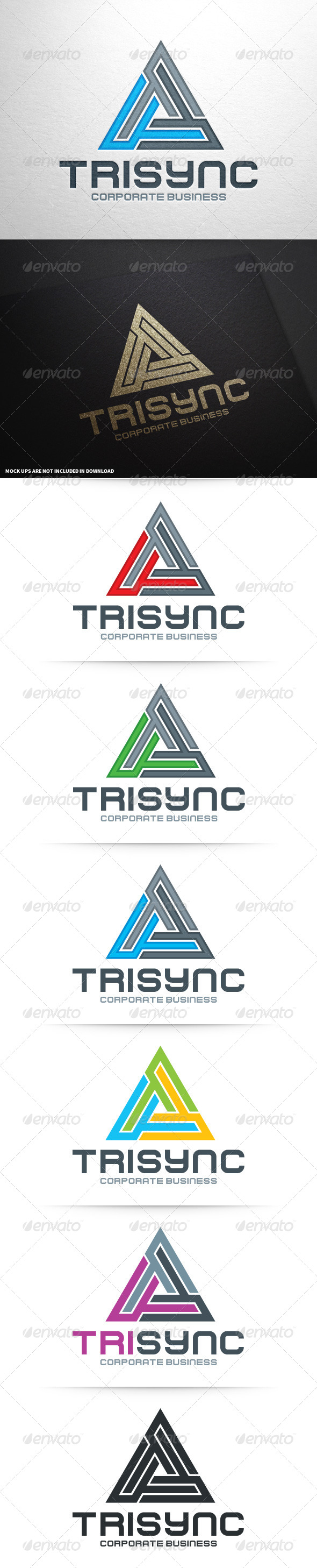 GraphicRiver Trisync Logo Template 8778083