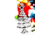 Silver stylized Christmas tree - PhotoDune Item for Sale