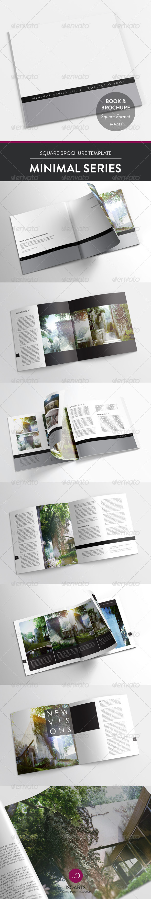Minimal Series • Square Brochure Template - Print Templates