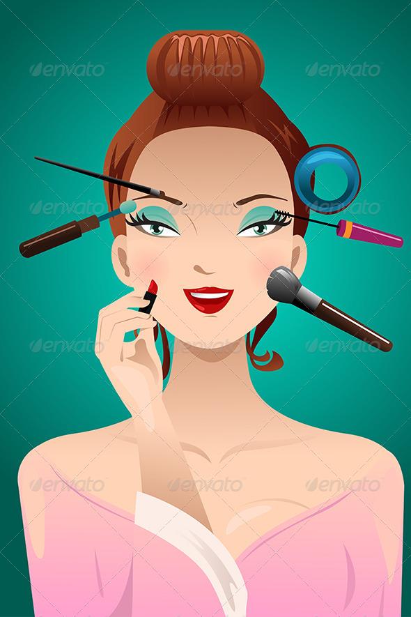 GraphicRiver Applying Makeup on a Woman 8778336