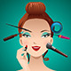 Applying Makeup on a Woman - GraphicRiver Item for Sale