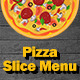 Pizza Slice Menu